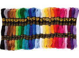 Как подобрать нитки для вышивания крестиком?